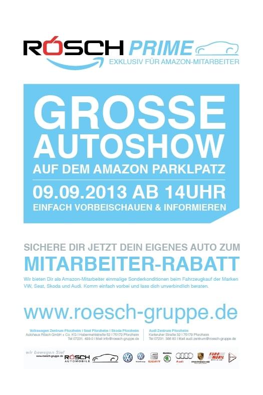 Gestaltung einer Anzeige für ein Autohaus