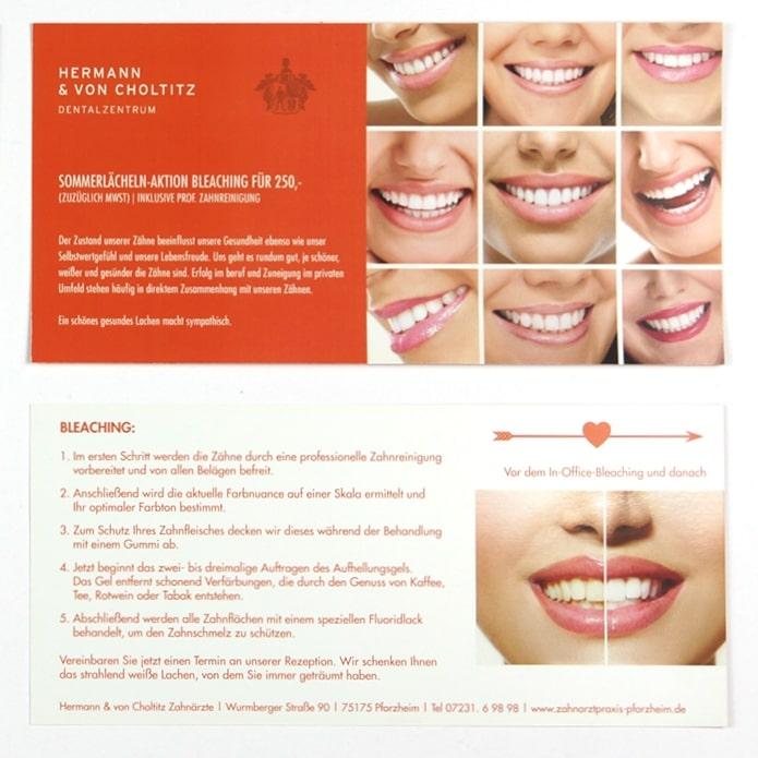 Grafische Gestaltung für professionelle Zahnaufhellung