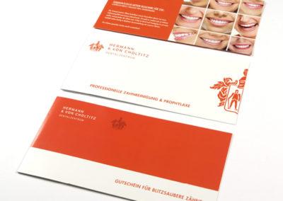 Gestaltung Flyer für Zahnärzte Pforzheim