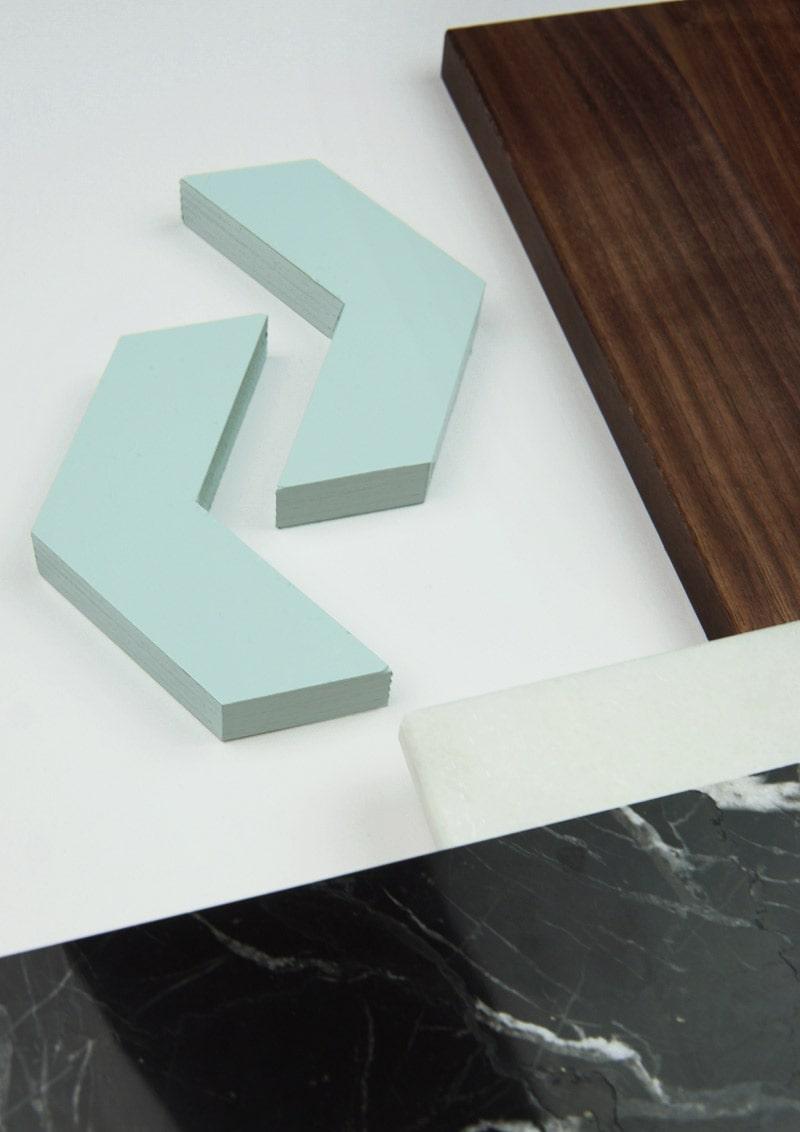 Richtungspfeile als Symbol für Design im Raum