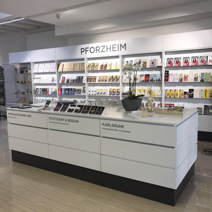 Raumgestaltung für Touristeninformation Pforzheim