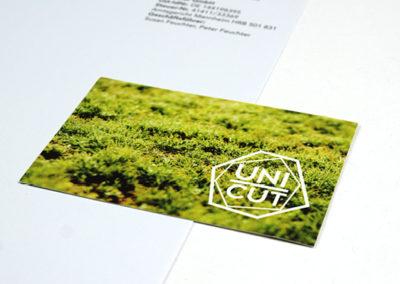 Briefpapier und Visitenkarte für Schmuck aus Naturdiamanten