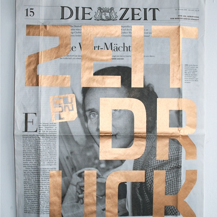 Magazincover mit Sonderdruck in Gold