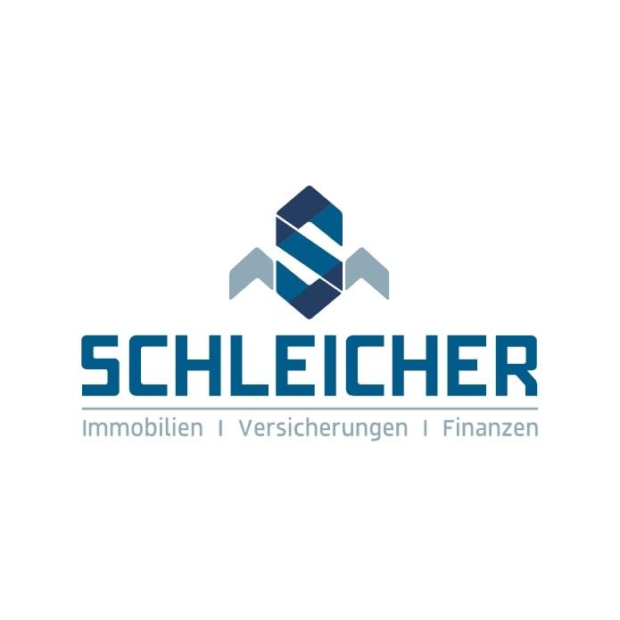 Professionelles Logo für Immobilien Makler in Blau