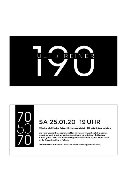 Einladung für Geburtstagsfeier erstellt von Grafik Design Agentur Pforzheim