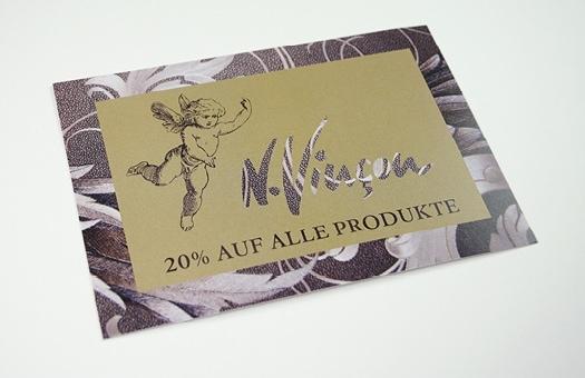 Grafikdesign für Kundenevent von Kosmetikinstitut