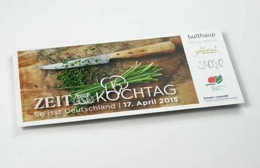Grafik Design für Veranstaltungsflyer Kochtag Zeit