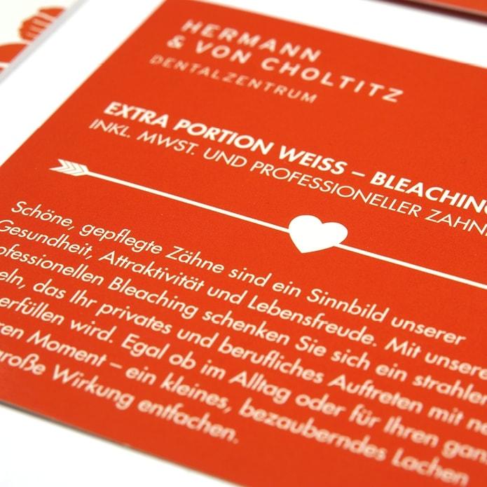 Design Detail Flyer für Zahnärzte