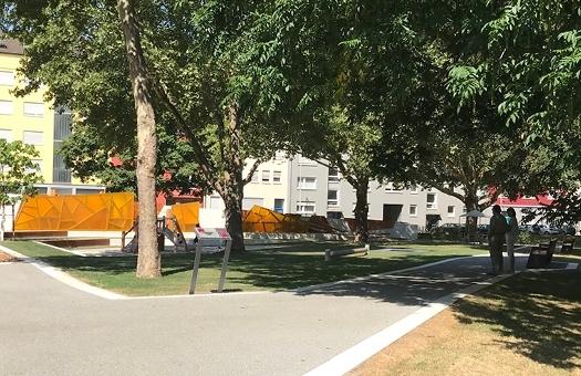 Design von Informationsflächen für Glückstein Park Mannheim