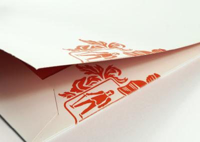 Logo Design Innen- und Außenseite einer Mappe
