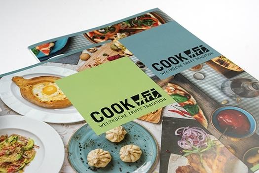 Design der Speisekarte für Restaurant CookArt