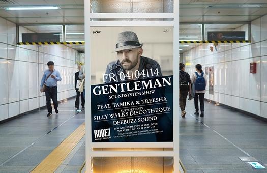 Postergestaltung für Reggae Star Gentleman
