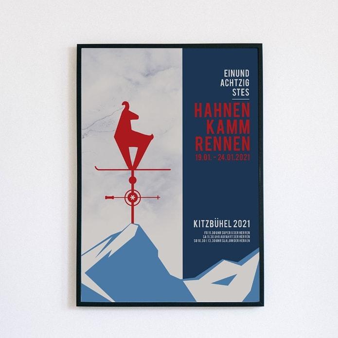 Alpines Poster für weltbekanntes Skievent