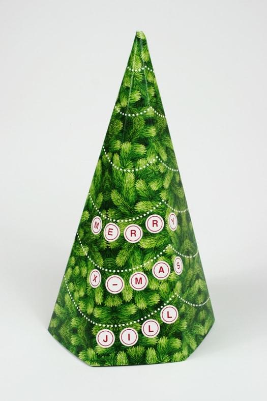 Personalisierte Weihnachtskarte, erstellt für eine Druckerei