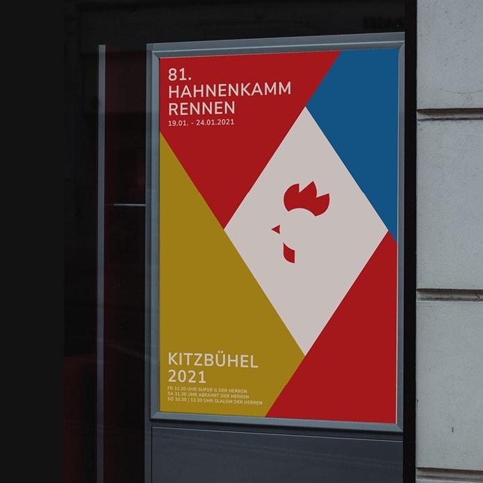 Plakatentwurf für das 81. Hahnenkammrennen