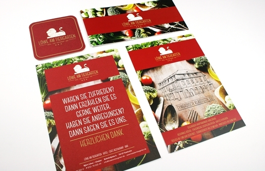Flyer, Broschüre und Bierdeckel Gestaltung für Gastronomie