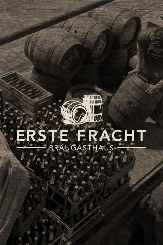 Logogestaltung für ein Braugasthaus mit Vintage Bier Motiv