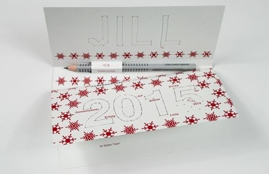 Gestaltung von Weihnachtsgruß mit kreativer Personalisierung