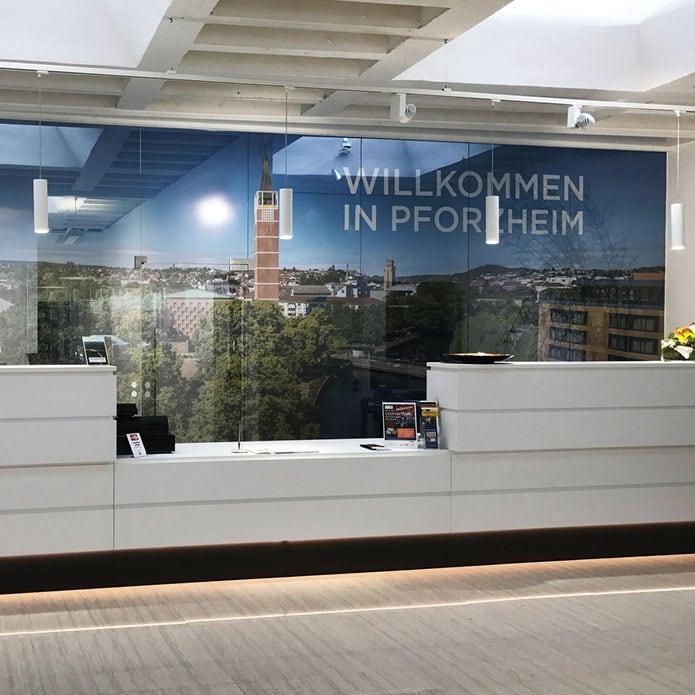 Gestaltung der Touristeninformation Pforzheim