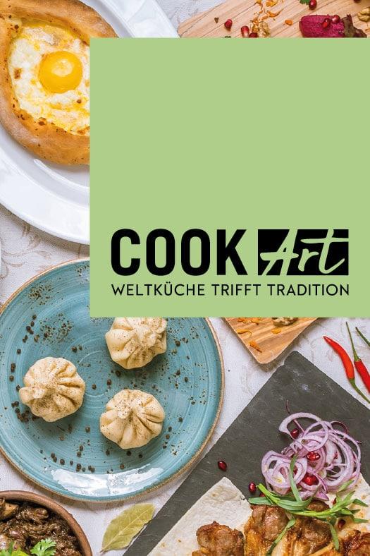 Logo auf Speisekarte mit frischen Gerichten