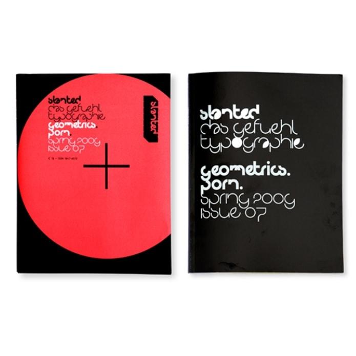 Typographische Arbeit im Slanted Magazin von Jill Wentz