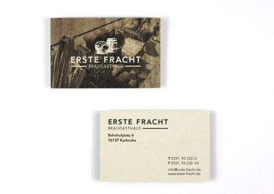 Visitenkarten erstellen für Brauhaus in Karlsruhe