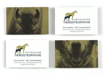 Professionelle Visitenkarten für Kim Feuchter Pforzheim