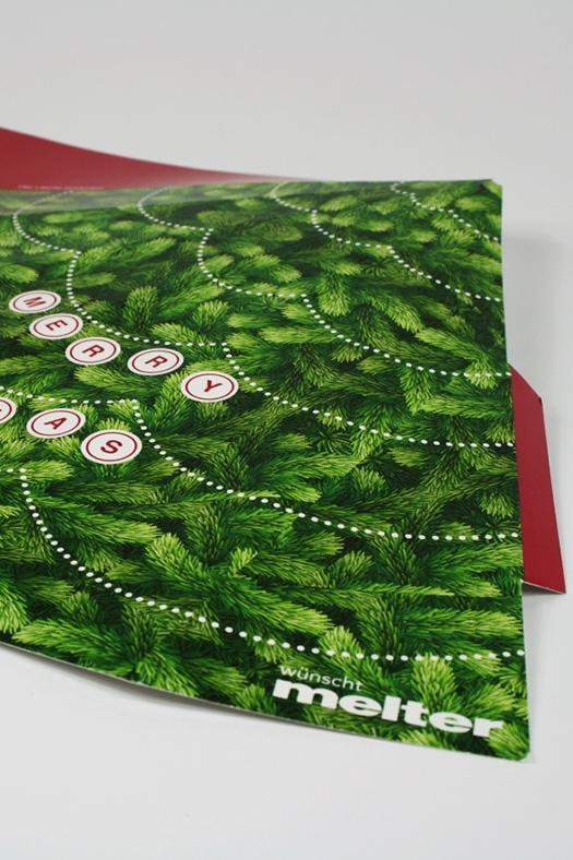 Weihnachtskarte erstellt von Grafik Design Agentur Pforzheim