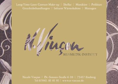 Anzeigengestaltung für Zeitung Kosmetikinstitut